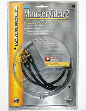 High Quality Monster Video 2 S-Video Cable