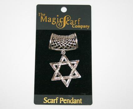 MagicScarf Company Star of David Scarf Pendant