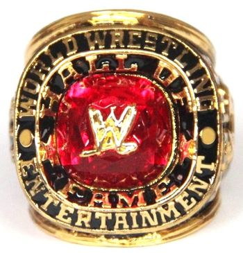 WWE 2008 Wrestling Hall Of Fame Replica Ring Size 10