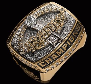 NFL St. Louis Rams 1999 Super Bowl XXXIV Championship Replica Ring Size 10
