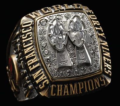 NFL San Francisco 49ers Super Bowl XIX Replica Ring Size 11