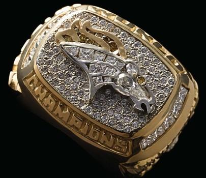 NFL Denver Broncos Super Bowl XXXII 1997 Championship Replica Ring Size 12