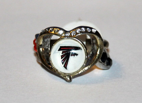 NFL Atlanta Falcons Women's Ring With Crystals Size 8