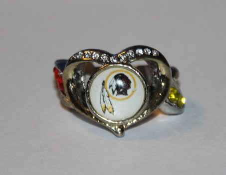 NFL Washington Redskins Pride Ring With Crystals Size 7