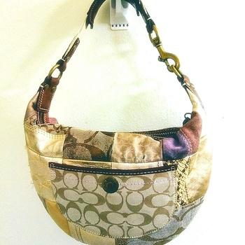 COACH Signature Hobo Patchwork Satchel Bag Handbag