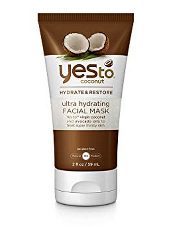 2 Pieces Yes To Coconut Ultra Hydrating Facial Mask, Brown