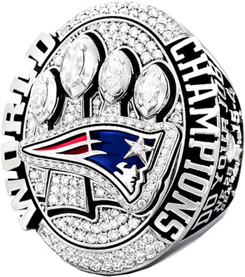 New England Patriots 2014 Super Bowl XLIX Championship Replica Ring Size 12