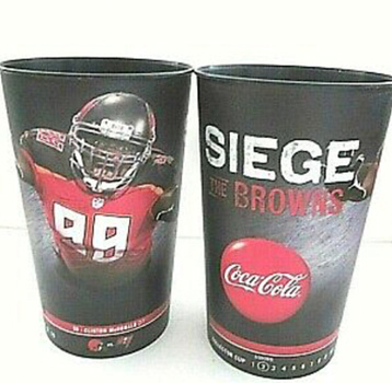 4 Cups Coca-Cola TAMPA vs THE BROWNS Collector Cup Football Game