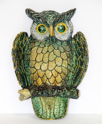 The Wisest Bird Hand Made Crafted Owl Wall Ornament