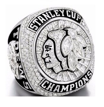 NHL Chicago Blackhawks 2015 Stanley Cup Championship Replica Rings Size 11