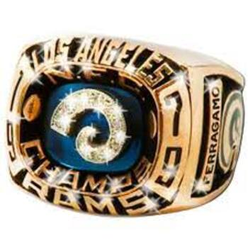 NFL LA Rams NFC Champs Replica Ring Size11