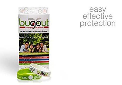 Bulk of 4 Pieces Bugout Waterproof Mosquito Repellent Adjustable Bracelets
