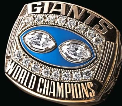 NFL NY Giants Super Bowl XXV Championship Replica Ring Size 10