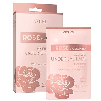 ROSE & COLLAGEN HYDRATING UNDER EYE PADS 5 Pairs