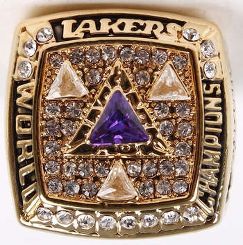 MLB Los Angeles Lakers 2003 Championship Replica Ring Size 11