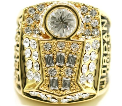 Michael Jordan 1998 Championship Replica Ring Size 10