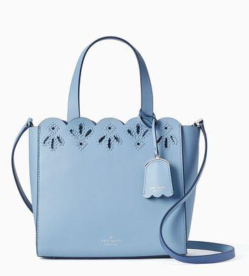 Kate Spade NY Magnolia Street Mina Tote Purse in Blue