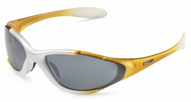 MADE IN ITALY Invicta Sport Diver Sunglasses Yellow/White Frame Black Lenses IEW011-01 With Exchangeable Lenses