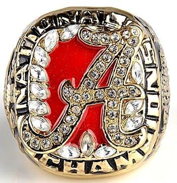 NCAA Alabama Crimson Tide Football 2009 Championship Replica Ring Size 11