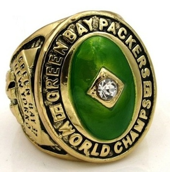 NFL Green Bay Packers 1961 Championship Replica Ring Size 10
