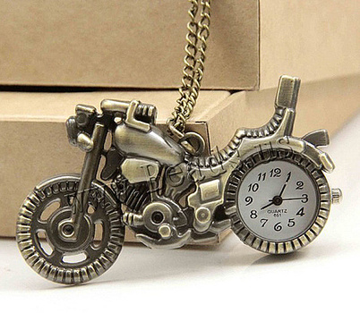 New Bronze Motorcycle Pocket Watch (Unixsex)