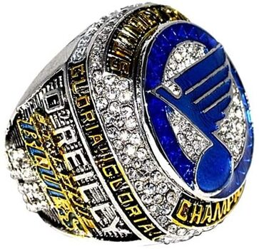 New Stanley Cup 2019 NHL St. Louis Blues Ring Championship Ring Size 12