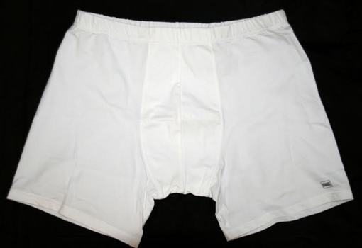 Men's Performance Boxers SWAT in White Size Large