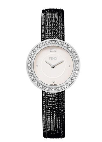 Fendi My Way Stainless Steel, Diamond & Leather-Strap Watch Retail $1795.00