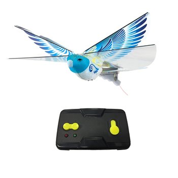 eBird Blue Pigeon- 2016 Creative Child Preferred Choice Award Winning Flying RC Toy - Remote Control Bionic Bird