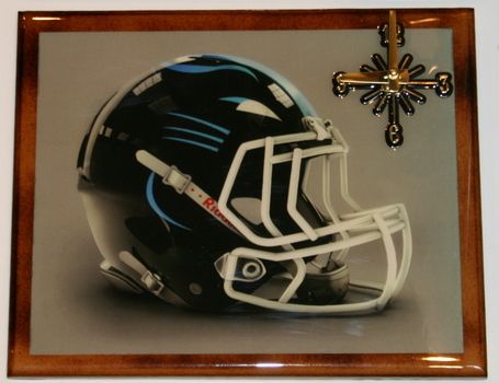 One Of A Kind NFL Wall Clock Carolina Panthers Extreme Exclusive Collection