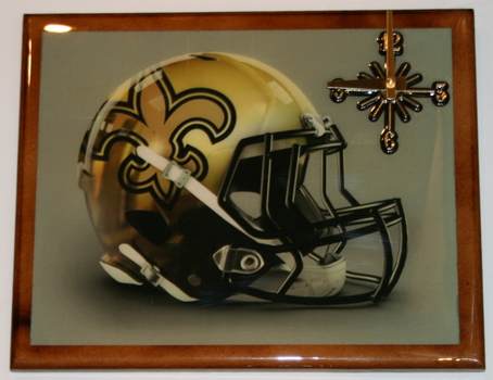 One Of A Kind NFL Wall Clock New Orleans Saints Extreme Exclusive Collection