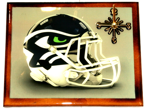 One Of A Kind NFL Wall Clock Seattle Seahawks  Extreme Exclusive Collection