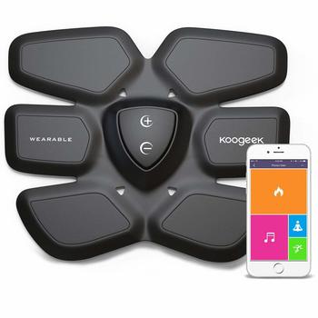 New Koogeek Smart Training Gear/Abs Fit, Wireless Muscle Stimulation Fat Burning for Abdomen Fit Training with App for iOS and Android, Wireless Charging