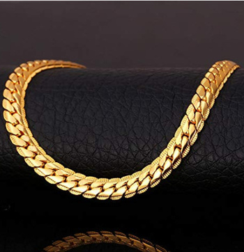 New Unisex 18K Gold Plated Necklace (Cuban Style)