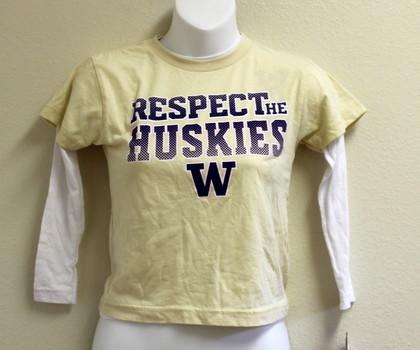 NCAA Washington Huskies Long Sleeve Jersey Size Medium