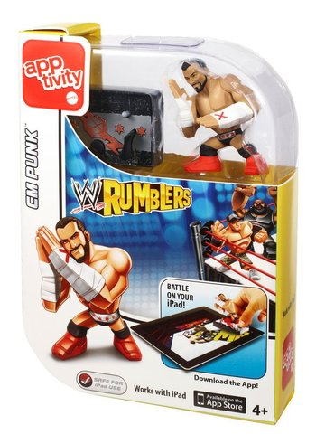 Matel WWE Rumblers Apptivity Cm Punk Figure