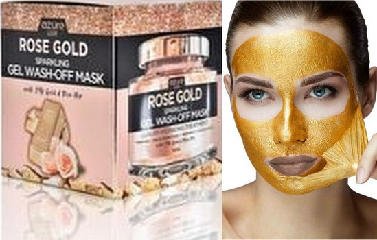 New Rose Gold Hydrating Sparkling Gel Wash-off Mask 24K Gold And Rose Hip QVC Product