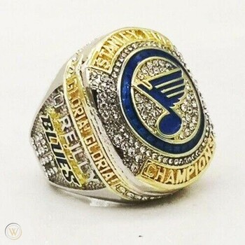 2019 ST. LOUIS BLUES STANLEY CUP REPLICA RING RYAN O'REILLY ALLOY Size 13