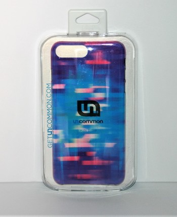 Uncommon Flex Clear iPhone 6/7 Plus Case (Blue and Red)
