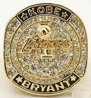 Kobe Bryant LA Lakers Retirement Replica Ring Size 10