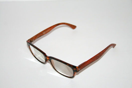 New Joy Mangano Reading Glasses Cheetah Print With Wood Style Arms +3.5 Prescription