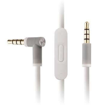 Replacement White Audio Cable for Beats by Dr Dre w/ In-Line Remote & Mic