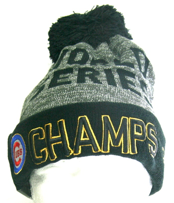 New World Series Champions CUBS 2016 Winter Hat One Size Fits Most.