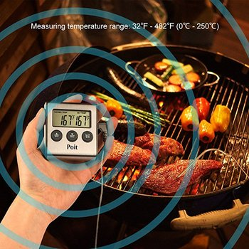 Digital Thermometer Grill Great When BBQ