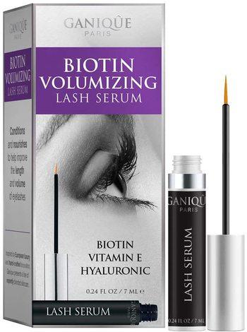 New Biotin Vitamin E Volumizing Eye Lash Serum, Strengthens Thin and Brittle Lashes - 7ml  Ganique PARIS