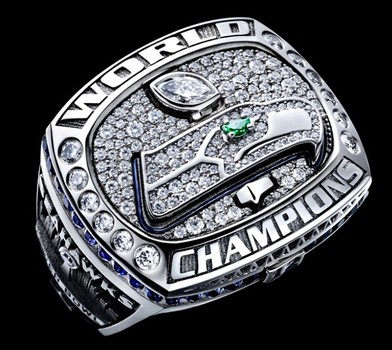 NFL Seattle Seahawks Super Bowl XLVIII Replica Ring Size 11