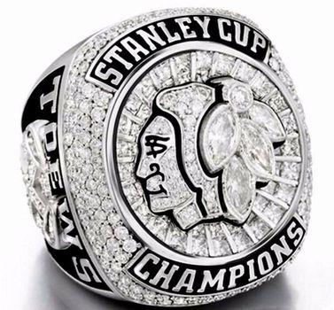 Chicago Black Hawks 2015 Stanley Cup Champions Replica Ring Size 9