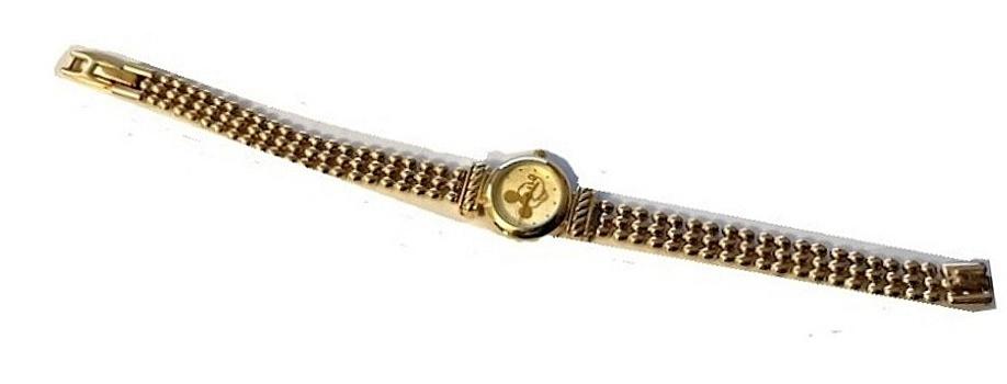 Disney Mickey Mouse Women's Gold -Tone Bracelet Watch