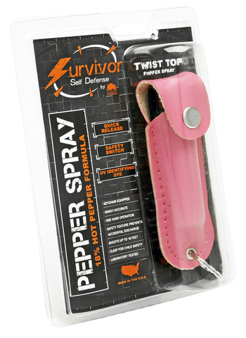 New Made In USA Survivor Pepper Spray Can 1/2 Ounce