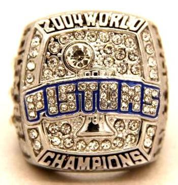 NBA Detroit Pistons 2004 World Replica Ring Size 11